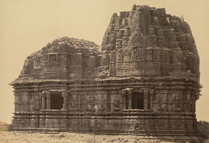 Image of Somnath temple in 19th century.  Battle of Somnath  Somnath Temple Mahmud Ghazni